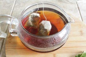ミントティー:アイス紅茶ミントティー:工程1