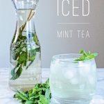 【ミントと水だけ】本格アイスミントティーの作り方|アメリカ家庭レシピを再現