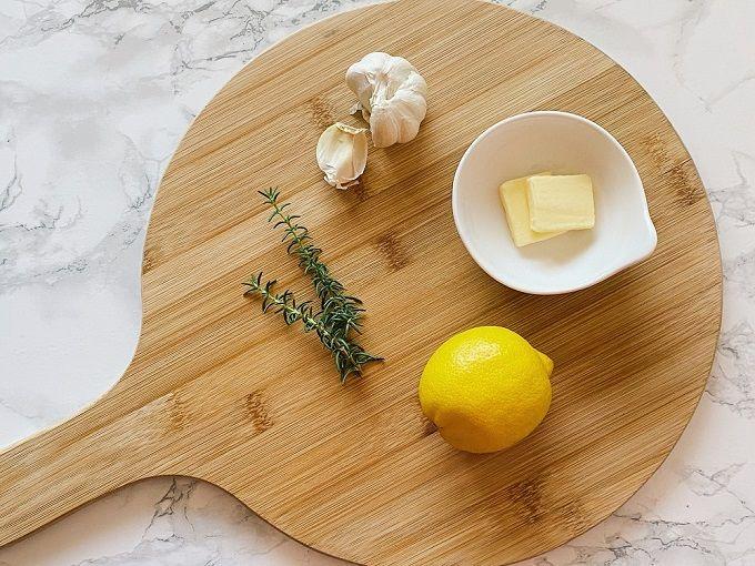 バター・にんにく・レモン汁と合わせる
