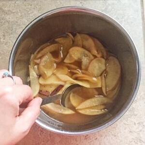 アップルシナモンシロップの作り方2