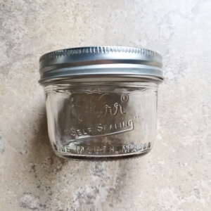 シロップの保存瓶