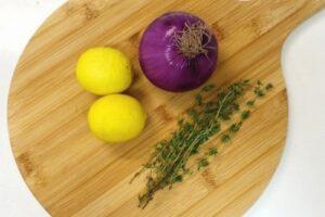 赤玉ねぎとタイムのピクルスの作り方1