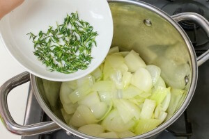 タイムとサツマイモのポタージュの作り方5