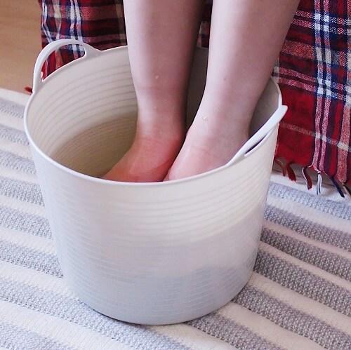 おうちで簡単!足湯のやり方