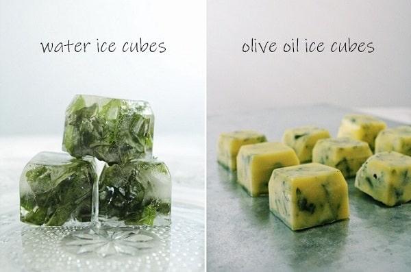 ハーブの氷の作り方