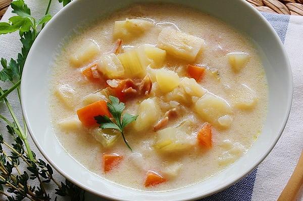 ハーブの野菜たっぷりクリームスープの作り方