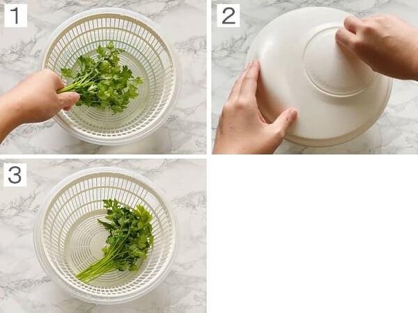 イタリアンパセリの洗い方