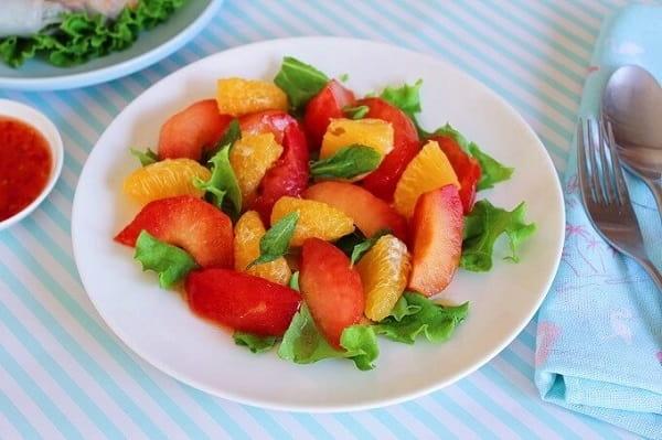 ミントのフルーツサラダ