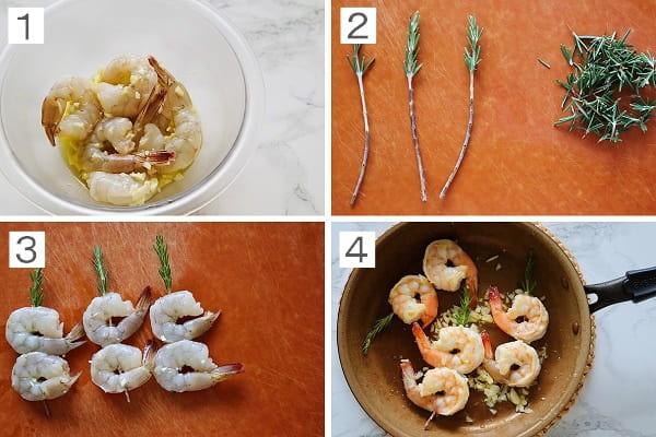 ローズマリーの海老焼きの作り方